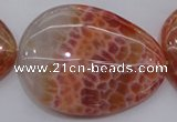 CAG4234 15.5 inches 35*48mm - 37*53mm freeform natural fire agate beads