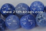 CAG4304 15.5 inches 12mm round dyed blue fire agate beads