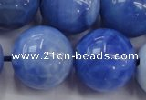 CAG4305 15.5 inches 14mm round dyed blue fire agate beads