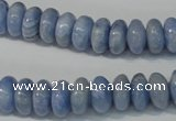 CAG4373 15.5 inches 6*12mm rondelle dyed blue lace agate beads