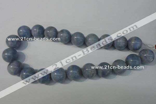 CAG4377 15.5 inches 20mm round dyed blue lace agate beads