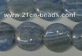 CAG4382 15.5 inches 20mm flat round dyed blue lace agate beads