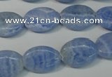 CAG4385 15.5 inches 13*18mm oval dyed blue lace agate beads