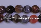 CAG4441 15.5 inches 10mm flat round botswana agate beads wholesale