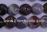 CAG4444 15.5 inches 16mm flat round botswana agate beads wholesale
