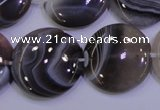 CAG4448 15.5 inches 25mm flat round botswana agate beads wholesale