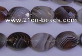 CAG4463 15.5 inches 12*16mm faceted oval botswana agate beads