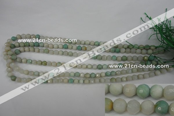 CAG4487 15.5 inches 6mm faceted round agate beads wholesale