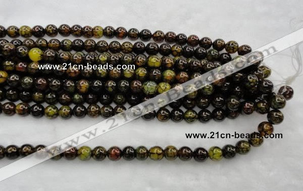 CAG449 15.5 inches 16mm round agate gemstone beads Wholesale