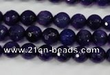 CAG4495 15.5 inches 8mm faceted round fire crackle agate beads