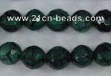 CAG4499 15.5 inches 8mm faceted round fire crackle agate beads