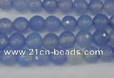 CAG4505 15.5 inches 8mm faceted round agate beads wholesale