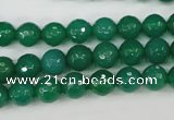 CAG4507 15.5 inches 8mm faceted round agate beads wholesale