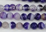 CAG4511 15.5 inches 8mm faceted round agate beads wholesale