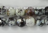 CAG4522 15.5 inches 10mm faceted round fire crackle agate beads
