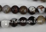 CAG4526 15.5 inches 10mm faceted round fire crackle agate beads