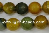 CAG4566 15.5 inches 14mm faceted round agate beads wholesale