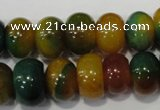 CAG4593 15.5 inches 10*14mm rondelle agate beads wholesale