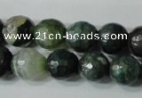 CAG4614 15.5 inches 6mm faceted round fire crackle agate beads