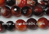 CAG4616 15.5 inches 6mm faceted round fire crackle agate beads
