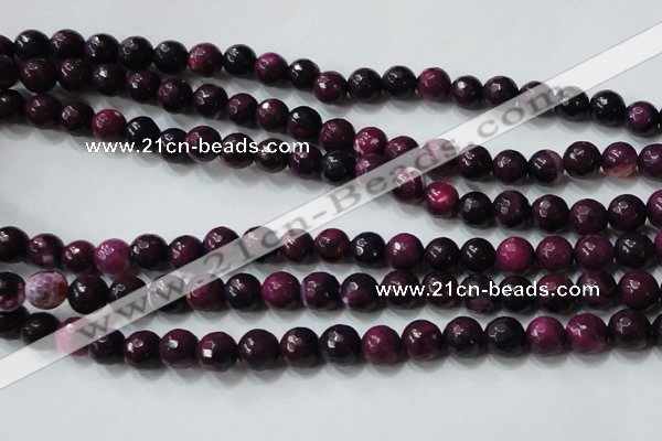 CAG4620 15.5 inches 6mm faceted round fire crackle agate beads