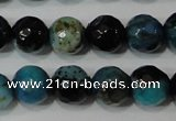 CAG4623 15.5 inches 6mm faceted round fire crackle agate beads