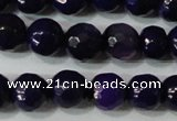 CAG4633 15.5 inches 6mm faceted round fire crackle agate beads