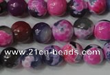 CAG4634 15.5 inches 6mm faceted round fire crackle agate beads