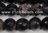 CAG4647 15.5 inches 8mm faceted round fire crackle agate beads