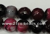 CAG4651 15.5 inches 8mm faceted round fire crackle agate beads