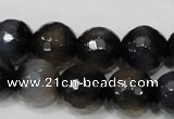 CAG4659 15.5 inches 8mm faceted round fire crackle agate beads
