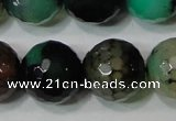 CAG4664 15.5 inches 10mm faceted round fire crackle agate beads