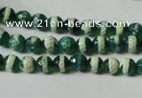 CAG4694 15.5 inches 6mm faceted round tibetan agate beads wholesale