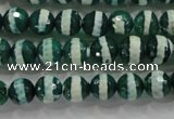 CAG4695 15.5 inches 8mm faceted round tibetan agate beads wholesale