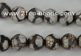 CAG4706 15 inches 10mm faceted round tibetan agate beads wholesale