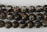 CAG4746 15 inches 8mm round tibetan agate beads wholesale