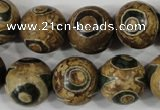 CAG4750 15 inches 16mm round tibetan agate beads wholesale