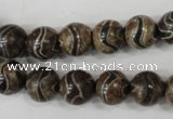CAG4752 15 inches 10mm round tibetan agate beads wholesale
