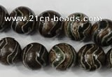 CAG4754 15 inches 14mm round tibetan agate beads wholesale