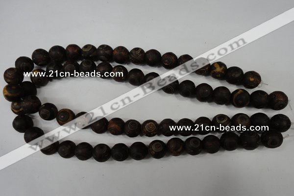 CAG4761 15 inches 12mm round tibetan agate beads wholesale