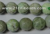 CAG4793 15.5 inches 14mm faceted round fire crackle agate beads