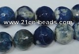 CAG4808 15 inches 12mm faceted round fire crackle agate beads