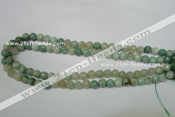 CAG4812 15 inches 8mm faceted round fire crackle agate beads