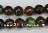 CAG4834 15 inches 12mm round dragon veins agate beads wholesale