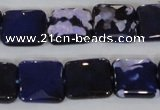 CAG4873 15 inches 14*14mm faceted square fire crackle agate beads