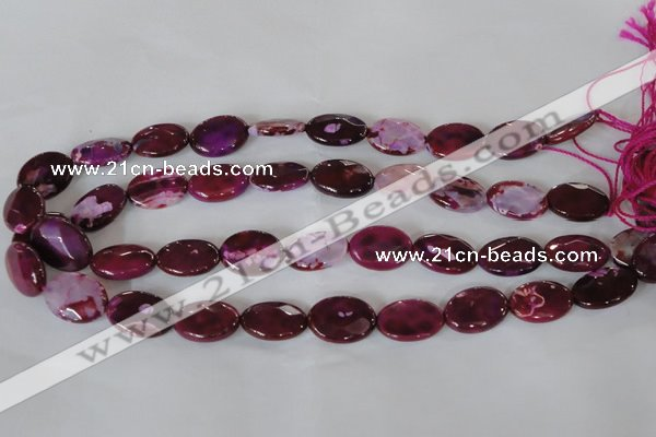 CAG4895 15 inches 13*18mm faceted oval fire crackle agate beads