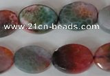 CAG4897 15 inches 13*18mm faceted oval fire crackle agate beads