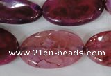 CAG4899 15 inches 20*30mm faceted oval fire crackle agate beads