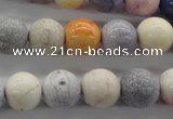 CAG4925 15.5 inches 12mm round dyed white agate beads