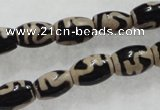CAG5083 15.5 inches 8*12mm drum tibetan agate beads wholesale